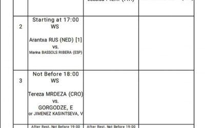 ITF Quadre Jugadores Dia 5