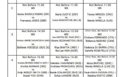 ITF Quadre Jugadores Dia 3